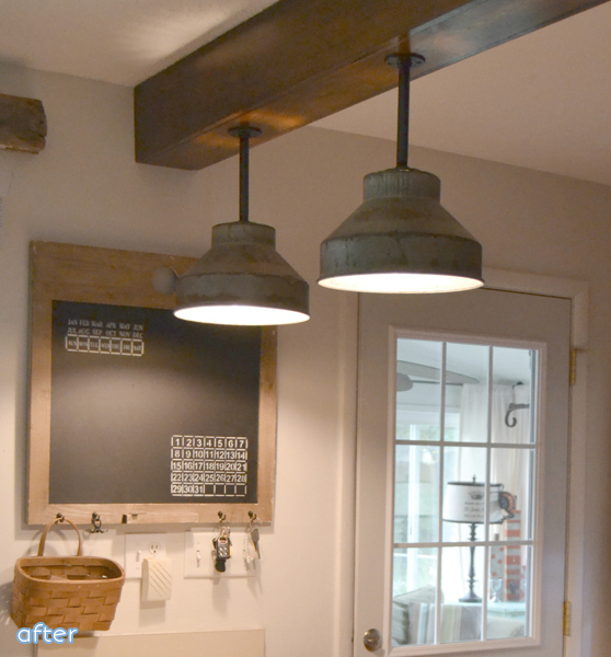 Wood Beam - Light Fixture - Makeover |betterafter.net