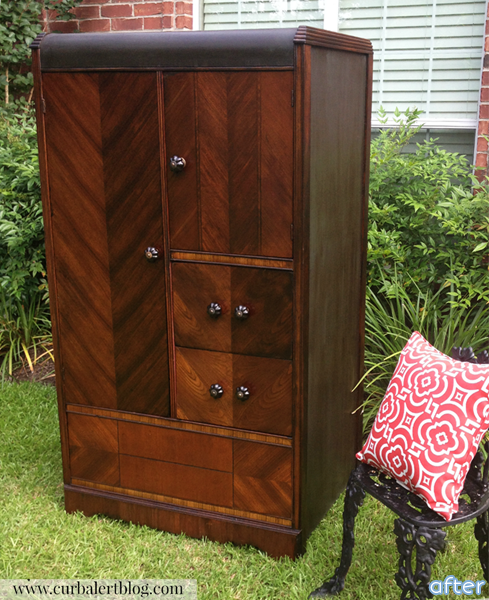 wood - chifferobe - wardrobe - makeover | betterafter.net