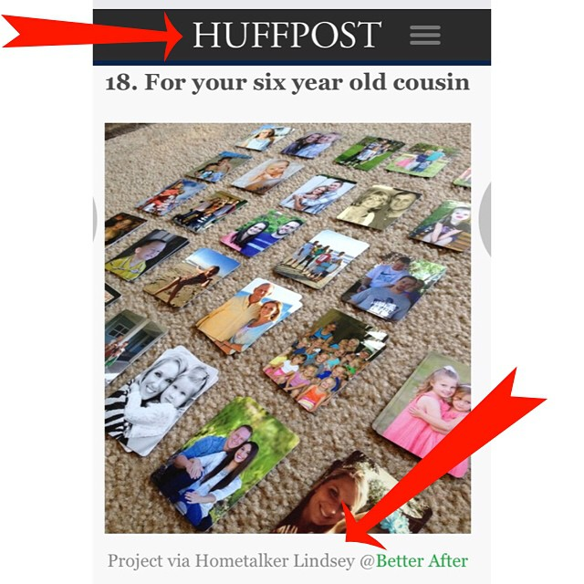 Oh my gosh ohmygosh I'm so excited! My little project made it into the Huffington Post! ?