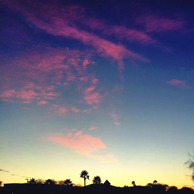 Pink lemonade sky.  #nofilter #justkiddinglike1000filters