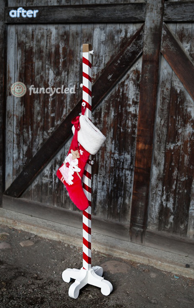 Candy Cane - Stocking Holder - Makeover |betterafter.net