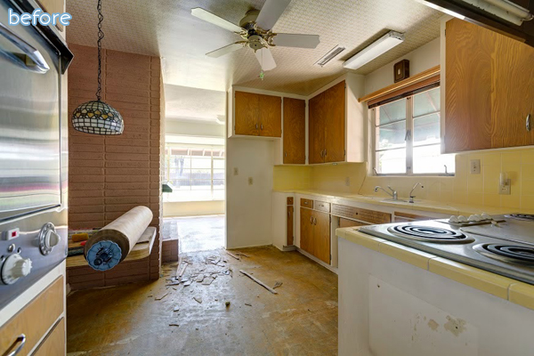 oak - kitchen - before