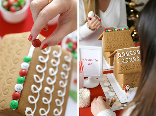 evite gingerbread house party with m&ms