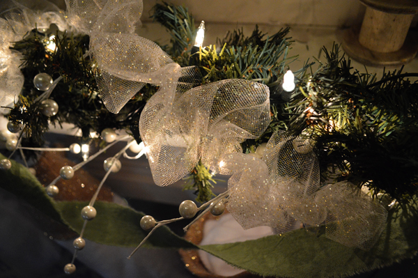 glitter tulle christmas garland