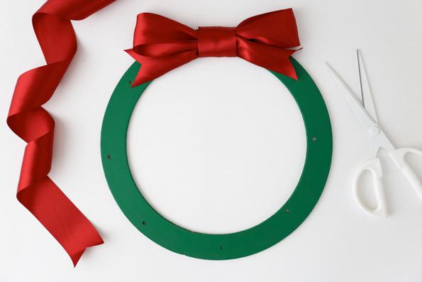 holiday treat wreath supplies