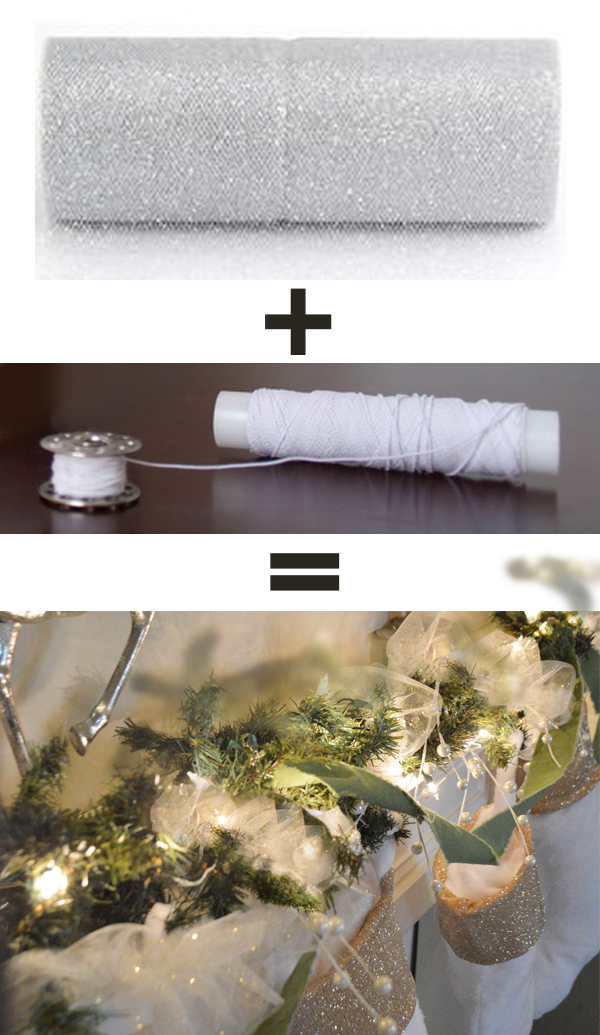 how to make tulle garland