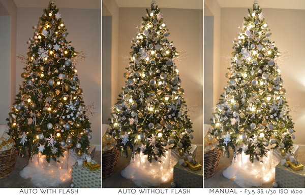 how to take pretty pictures of a christmas tree