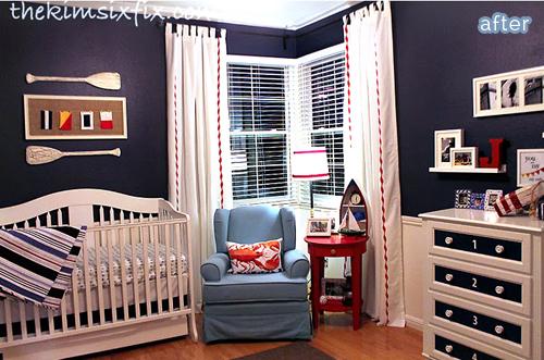 Nautcial nursery makeover after   | betterafter.net
