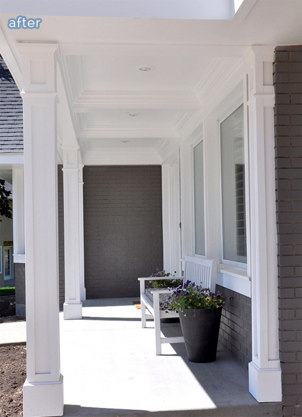 paneled porch ceiling with pillars  | betterafter.net