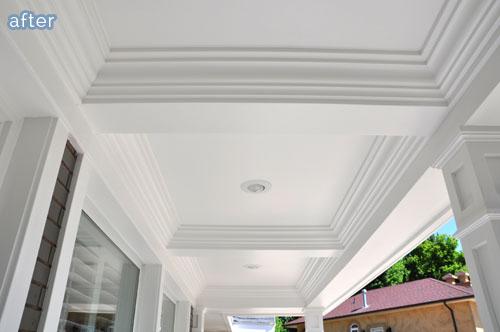 paneled porch ceiling  | betterafter.net