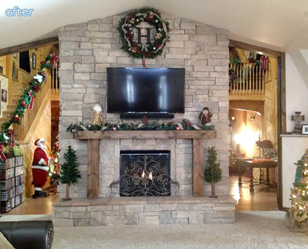 Rock - Fireplace - Side One - Makeover | betterafter.net