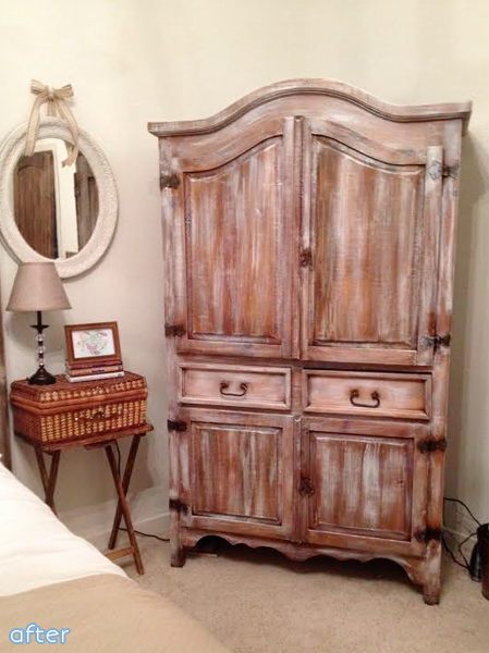 armoire makeover after