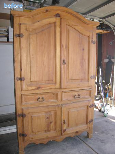 armoire makeover before