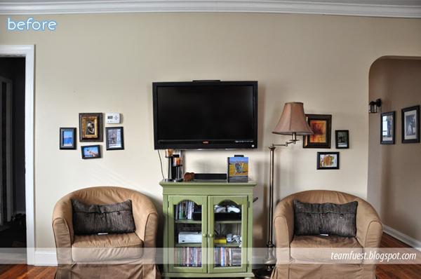 cream - living room - before