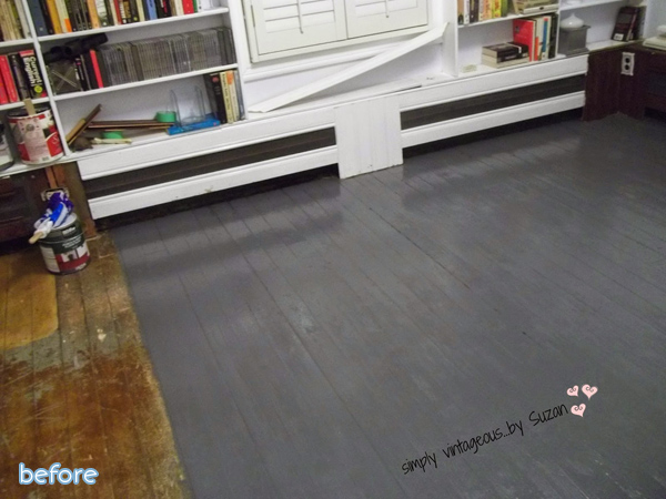scratched - wood floor - before