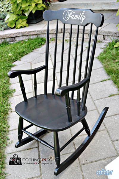 Black - Family - Rocking Chair- Makeover | betterafter.net