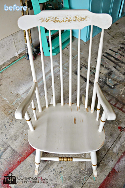White - Rocking Chair - Before