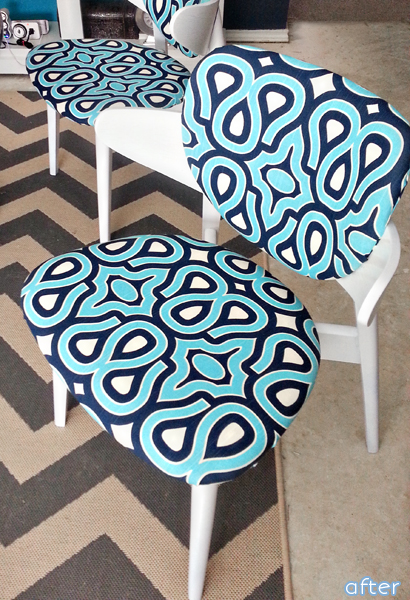 White - Fun Fabric -Chairs- Makeover | betterafter.net