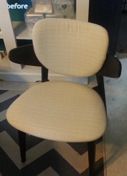 tan chair - before