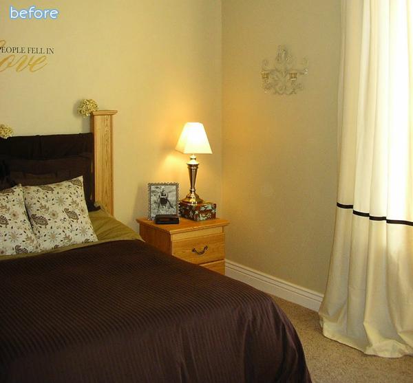brown bedroom before