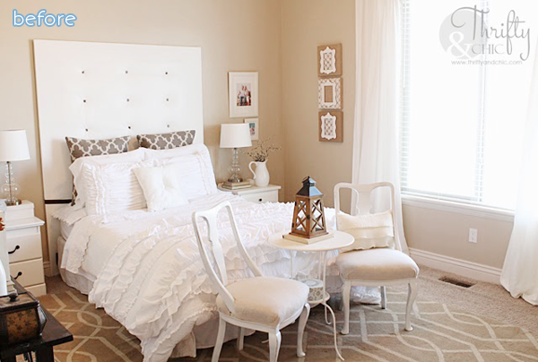white bedroom first makeover