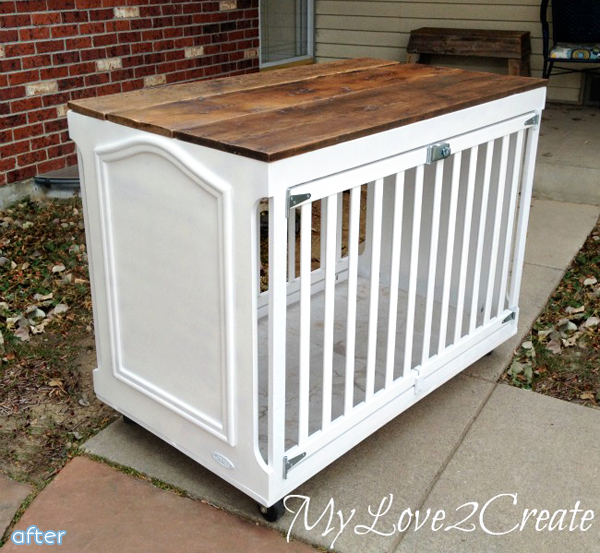 Crib - to - Dog Crate - Makeover |betterafter.net