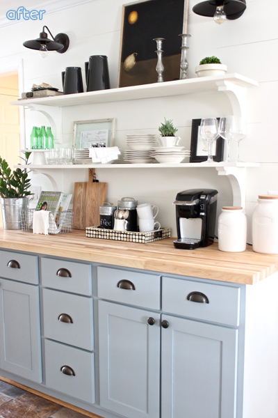 Gray - White - Kitchen - Cupboards - Makeover | betterafter.net