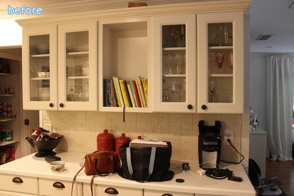 White - kitchen - cabinets - makeover - before