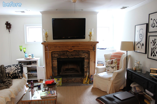 Living Room - White and Gray - Before