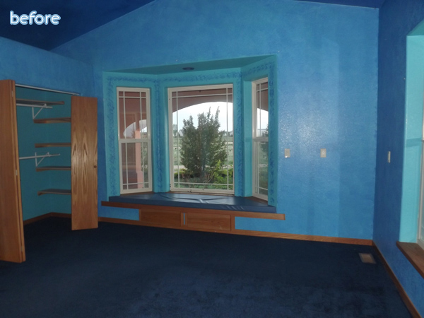 Bright - Blue - Guest Bedroom - Before