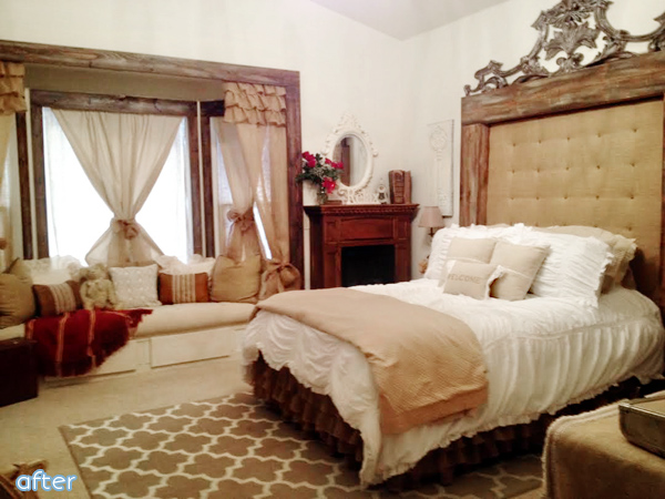 Tan - Cream - Guest Bedroom - Makeover | betterafter.net