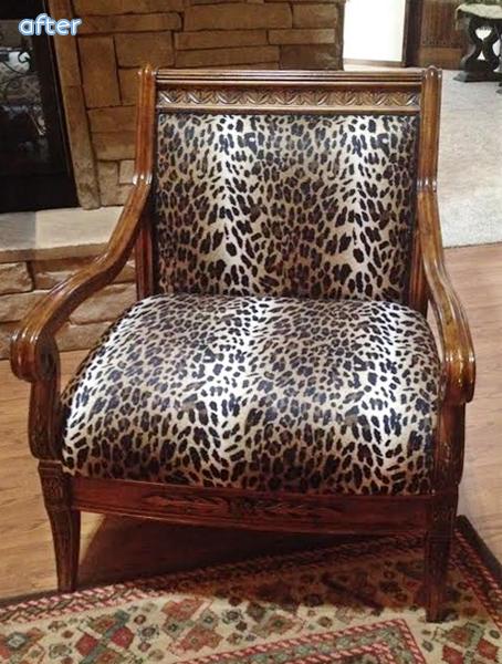 Leopard - Chair- Makeover | betterafter.net