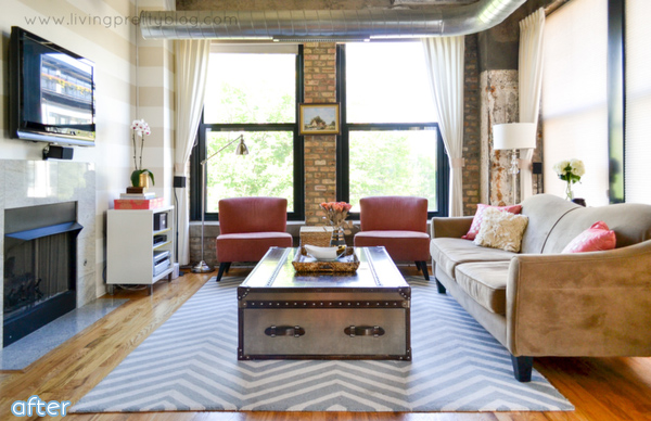 Loft - Living Room - Light - Makeover   better after.net