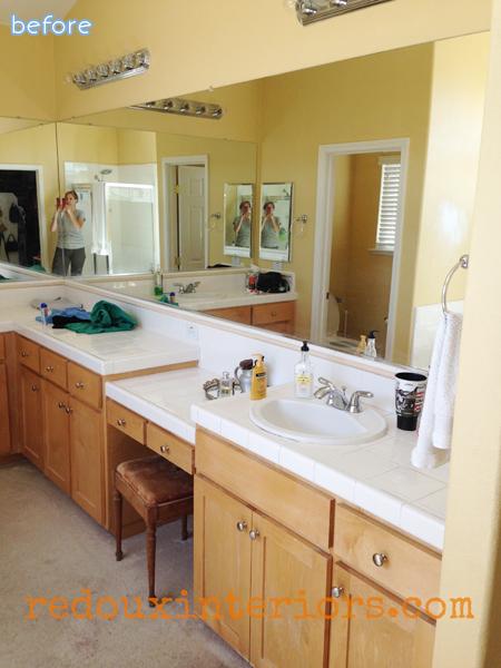 tan - yellow - bathroom - before