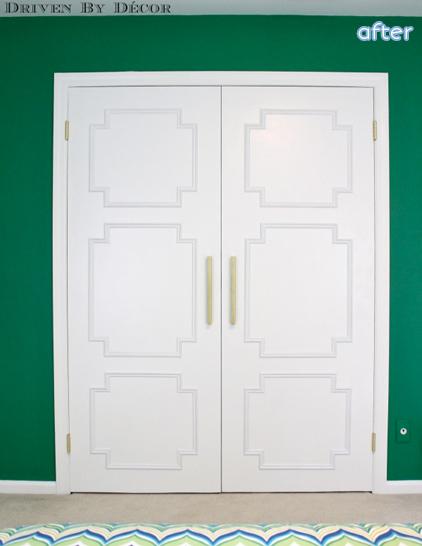 moulding closet door makeover