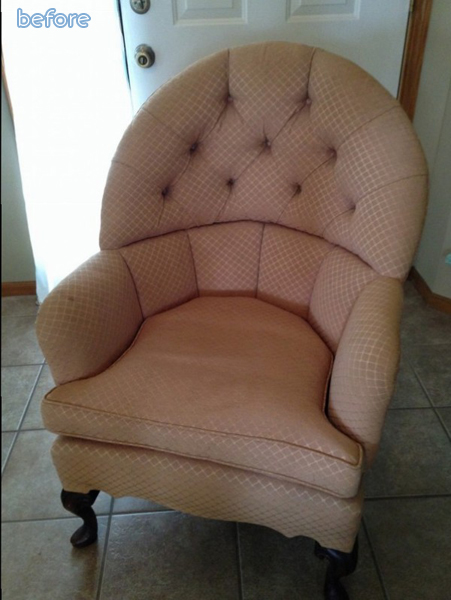 Peachish - Arm Chair - Before