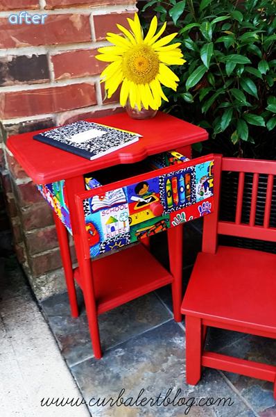 School Desk- Red - Makeovers |betterafter.net