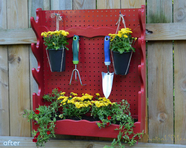 Gardening Tool Holder- Red - Makeovers |betterafter.net