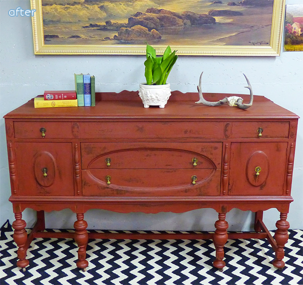 Buffet- Red - Makeovers |betterafter.net