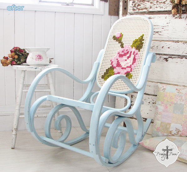 Rose - Rocking Chair - Makeover | betterafter.net