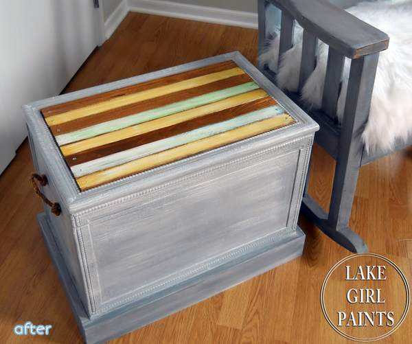 Striped - Storage Box - Makeover | betterafter.net
