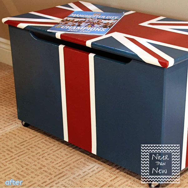 Union Jack - Toy Box - Makeover | betterafter.net