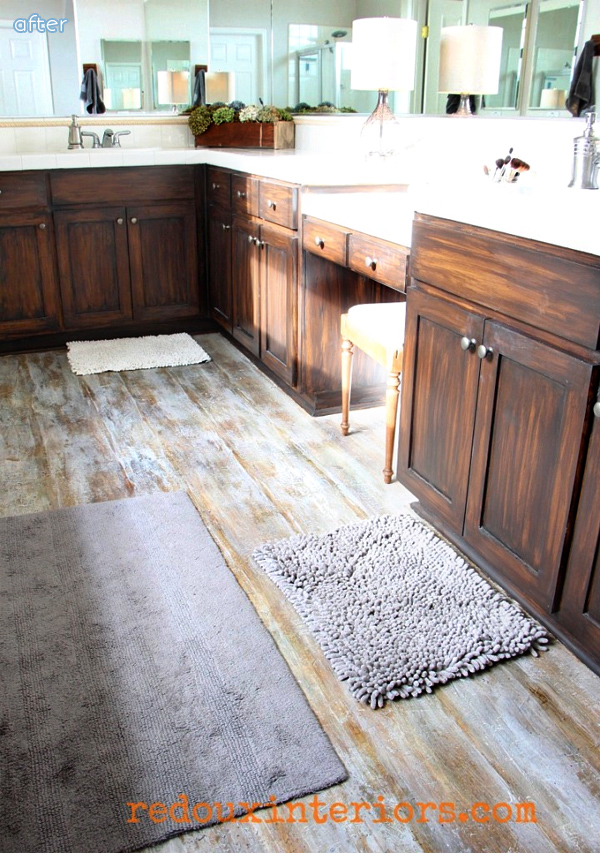 weathered floor diy