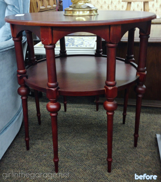 red - side table - before