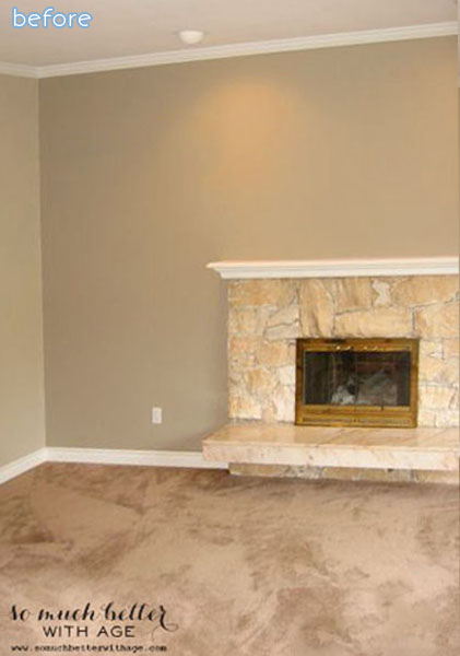 Rock - Fireplace - Before
