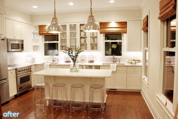 White - Kitchen - Wood Tones- Makeover | betterafter.net