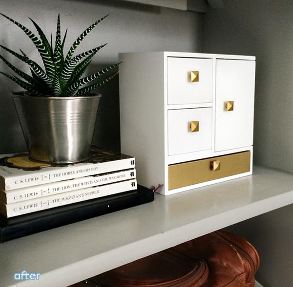 White and Gold Jewlery Box | betterafter.net
