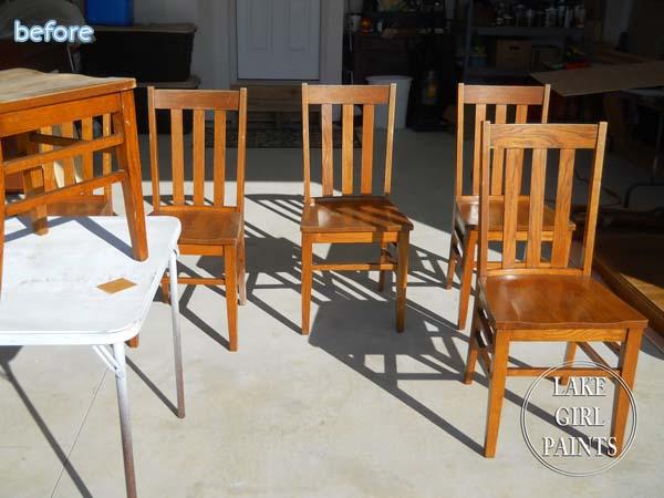 Wood Grain Chairs Before