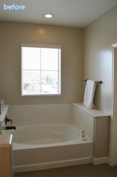Builder bland bathroom before  | betterafter.net