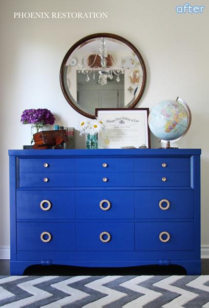 bright_blue_dresser_makeover